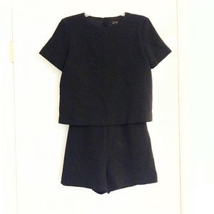 Zara Two Piece Black Romper